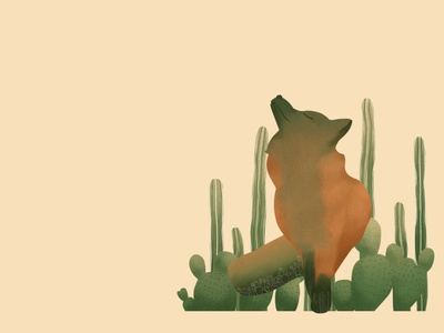 prickly fox illustration