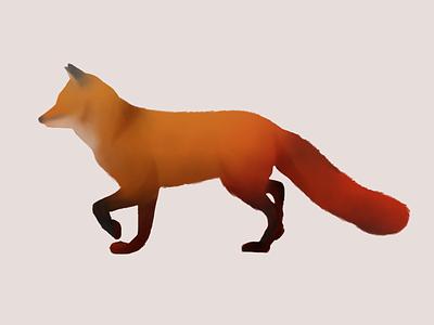 Fox 1 animal wildlife autumn fall illustration