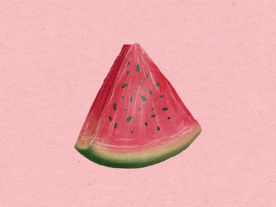 Simple Watermelon Illustration summer fruit illustration
