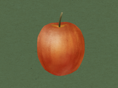 Simple Apple Illustration green fruit food illustration