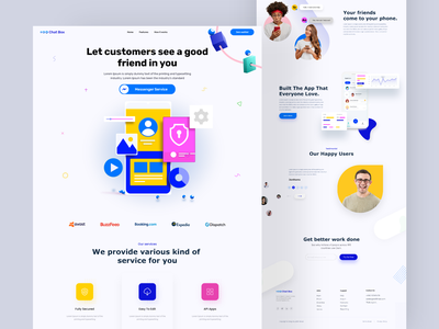Messenger app  redesign landing page clean chat app landing page ui web design chat landing page ui design product home page clean ui website design webdesign interface website landing page graphic design web