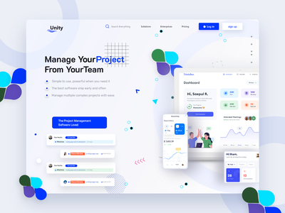 Project Management 2 hero header homepage project management ui design home page website design webdesign interface graphic design website landing page web