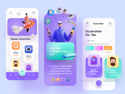 Illustration E Commerce app ui design ux ui design mobile apps mobileapp mobileappdesign minimal mobile mobile ui mobile app app ui ux interface