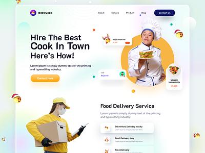 Food Cooking  Website food cooking ui  ux ui design home page website design webdesign graphic design website landing page web interface