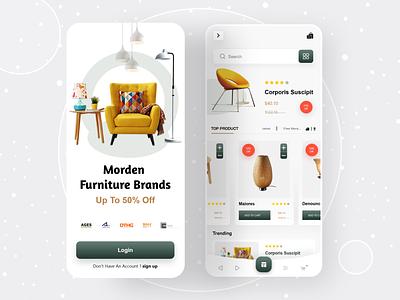 Furniture Shop App app ui ux mobile app design mobile ui ios app online store ios app chair chair app online shop furniture app furniture store app design mobile design mobile app mobile