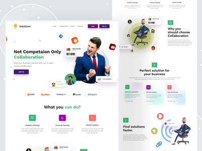 Online Collaboration platform platform collaboration environment partnership teamwork ui design product online courses home page website design webdesign website web landing page