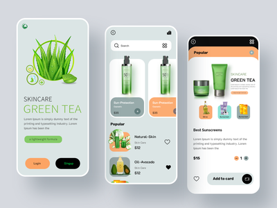 Beauty Product Shop App app design beauty salon skincare natural cosmetics product mobile shopping app beauty app product product app ecommerce ecommerce app shopify trendy facial online store app shop beauty shop beauty