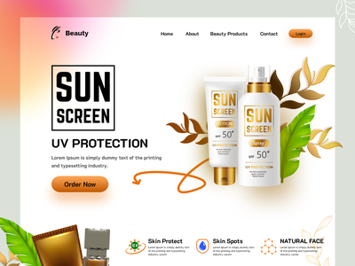 Ladies | Beauty Store Website graphic design webdesign interface website website design home page web landing page shopify makeup ecommercewebsite cosmetic web designer shopping online shop beauty shop beauty spa