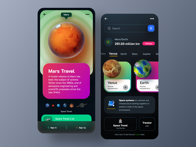 space travel app satellite app mobileappdesign app designer astronaut stars planet rocket spacesystem spacestation spaceinformation galaxy saturn venus mercury universe travel app design spaceship travel app space