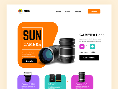 product page service ecommerce lens camera product minimal mrstudio masud home page website design webdesign web interface website landing page