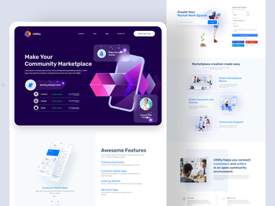 Business community Landing page designer business community management community marketplaces community marketplaces mrstudio masud ux design ui design ui  ux home page website design webdesign web interface website landing page