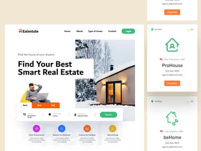 Real Estate Home page realtor broker house real estate agency real estate agent real estate design realestatelife realestateagent properties housing realestate real estate masud mrstudio ui design home page website design interface website landing page