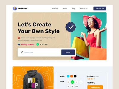 Clothing Store Website web design uiux landing page design interface ecommerce website homepage ui design home page website design webdesign web website landing page