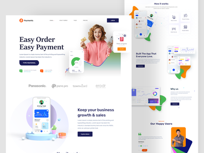 App Landing page webdesign product page ui design landing page design home page website design website landing page