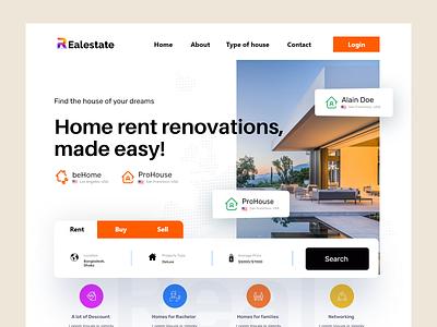 Real Estate web design landing page design ui  ux web home page website design webdesign website landing page