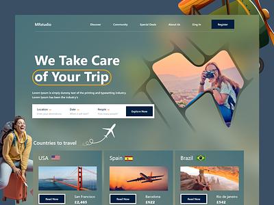 Travel Agency Website web design ui design homepage design mrstudio landing page design home page design homepage home page interface website design webdesign web website landing page