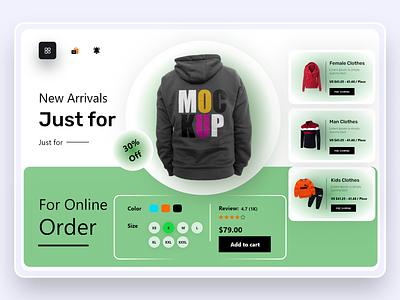 Clothing Store Web UI landing page web design website web webdesign website design home page homepage home page design landing page design mrstudio homepage design ui design