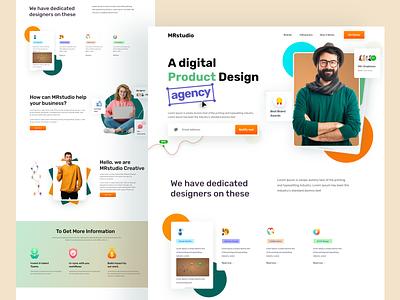 Digital Agency Landing Page Design website design home page website web page web web design landing page