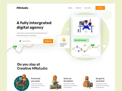Agency web design home page website design webdesign web landing page website