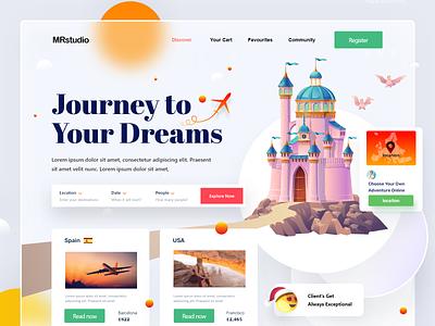 Travel Agency Website web page webdesign web website home page website design landing page