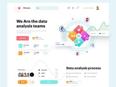 Data analysis website design home page website design webdesign web landing page website