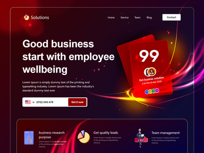 Fintech Home page : landing page web page home page website design webdesign web website landing page