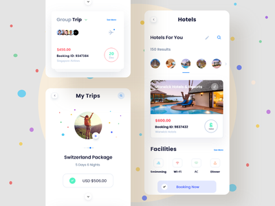 Travel : Hotel  Booking  app mobile ui design ux ui android screens ios mobile app application appdesign mobile app design design app