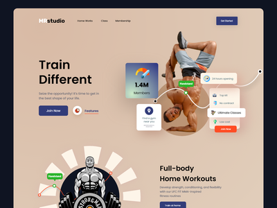 Fitness Web: landing page uiux landing page design landingpage web home page web site webdesign website design website landing medical workout gym bodybuilding training health lifestyle fitness club weightloss landing page
