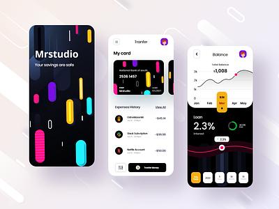 finance: mobile banking app design app mobile app design screens android ios appdesign application app mobile ux design ui