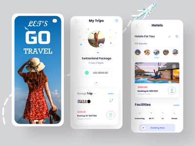 Travel App Design design app mobile app design screens android ios appdesign application app mobile ux design ui