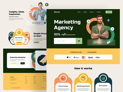 Digital marketing agency landing page design home page website webdesign landing landing page website design web site web page web web design