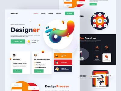Mrstudio website design website website design design web page landing home page webdesign web website landing page
