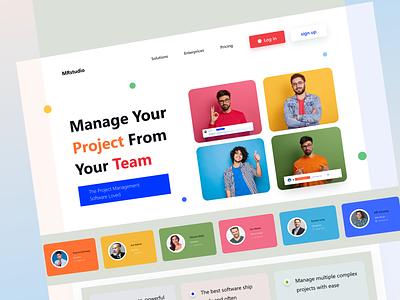 Project Management teams collaboration landing design home page webdesign website design web landing page website project management task management collaboration teams teamwork