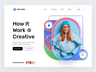 Creative designer: MRstudio web page web website design web design website homepage landing page landing