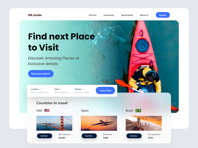 Travel landing page home page design web website design web design website landing page landing