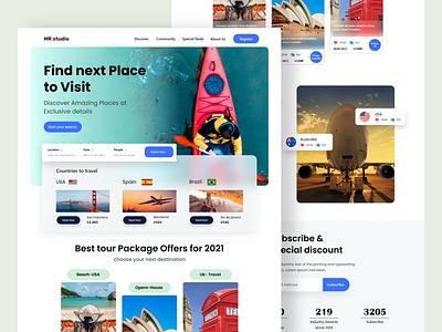 Travel agency  Website design page website design webdesign home page landingpage landing page web website landing