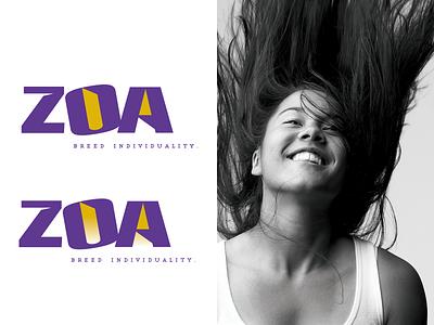 ZOA (zo·a. noun) conceptual design conceptual logo branding agency creative design logo branding