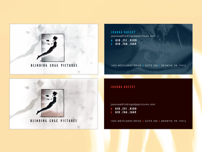 Blinding Edge Pictures business card design stationery design creative direction branding branding agency graphic  design