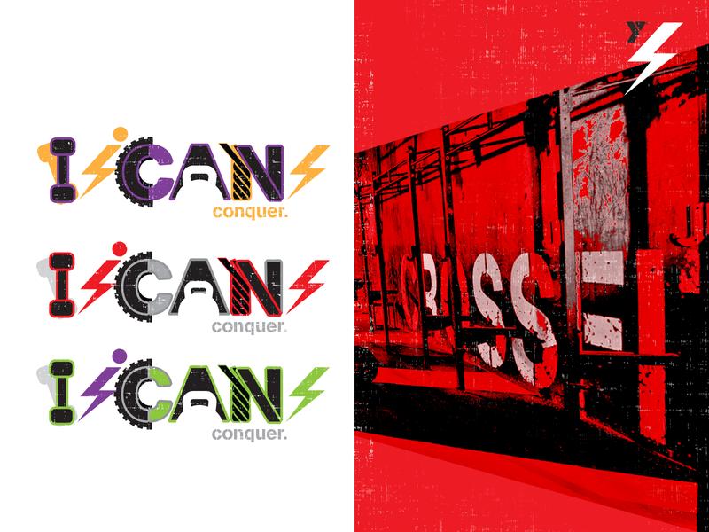 I CAN ymca crossfit logo fitness logo creative direction logo branding agency branding graphic  design