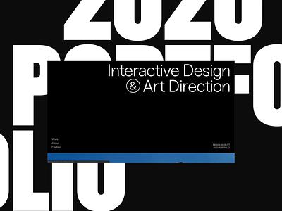2020 Portfolio awwwards portfolio site animation motion website web design ux design ui portfolio