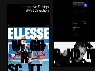 2020 Portfolio portfolio site portfolio awwwards animation motion website web design ux design ui