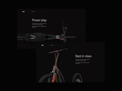 AER scooter electric aer website web design ux design ui
