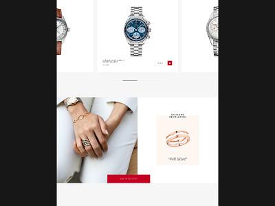 Omega omega watch website web design ux design ui