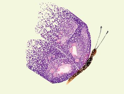 Broken Butterfly vector illustration butterfly