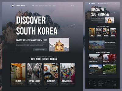 Yeohaeng Annaeseo - A travel guide for South Korea dark ui website south korea travel