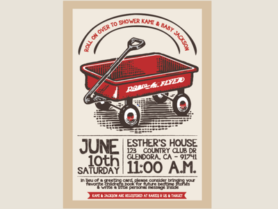 Baby Shower Invitation vector invitation typography design illustration graphic design
