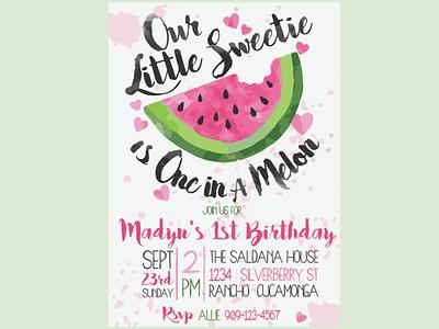 Birthday Invitation vector invitation branding typography logo illustration design
