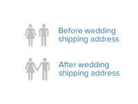 Wedding registry shipping address visual design