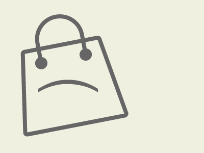 The unhappy empty shopping bag by Shawn G. Chittle - Dribbble