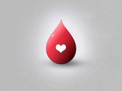 Drop Icon icon drop love blood illustration gradient shadow psd photoshop debut